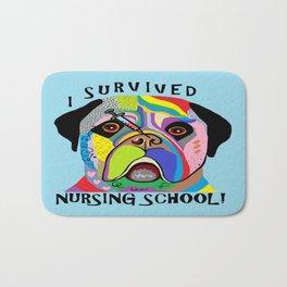 I Survived Nursing School Bath Mat