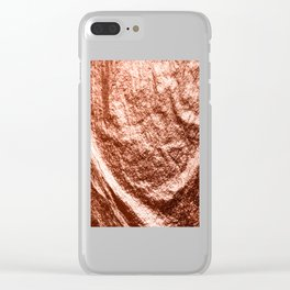 Rose gold draped foil Clear iPhone Case