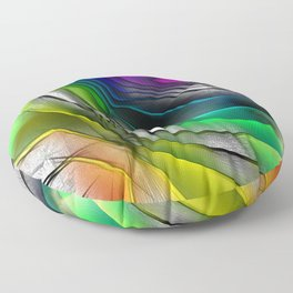 COLOR COVERGECE ABSTRACT Floor Pillow