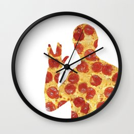 Live Long and Pizza Wall Clock
