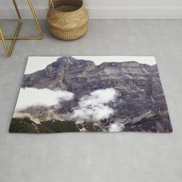 Peaks and Clouds Alps Mountains Rug