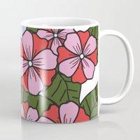 scandinavian Mugs featuring Scandinavian Garden by She's That Wallflower