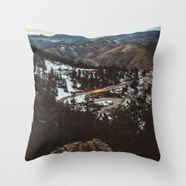 Rocky Mountain Solitude Throw Pillow