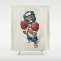 ali Shower Curtains featuring Ali by clogtwo