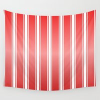 racing Wall Tapestries featuring Red Racing Stripes by Justbyjulie