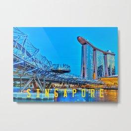 Singapore Marina Bay Metal Print