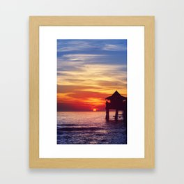 Naples FL Pier - a Portrait Framed Art Print