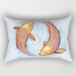 Pisces Fish Yin Yang Mandala Rectangular Pillow