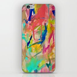 Wild Child: a colorful, vibrant abstract piece in neon and bold colors iPhone Skin