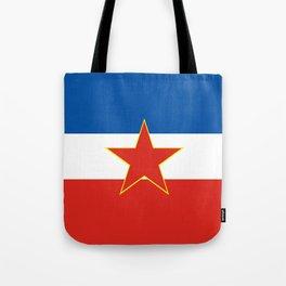 yugoslavia country flag Tote Bag