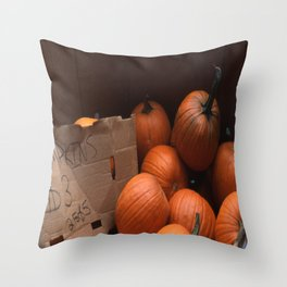 Pumpkins In a Box! Throw Pillow