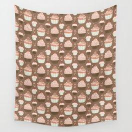 Elegant Cupcakes Food Vector Pattern Seamless Wall Tapestry
