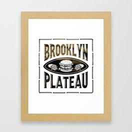 Brooklyn X Plateau - NYC x MTL Framed Art Print