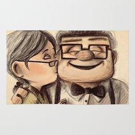carl and ellie happy Rug