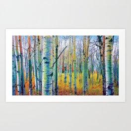 Aspen Trees in the Fall Art Print