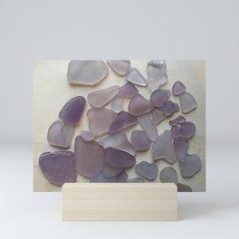 Genuine Purple Sea Glass Collection Mini Art Print
