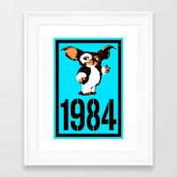 "gremlins Framed Art Prints featuring ""Mourning My Youth"" Series 