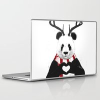 xmas Laptop & iPad Skins featuring Xmas panda by Balazs Solti