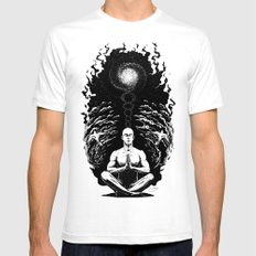 Peace of Mind White Mens Fitted Tee MEDIUM