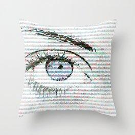 Blue eye colour variant Throw Pillow