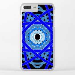 Not Quite Tangled Inside Out (Black Light Version) Clear iPhone Case