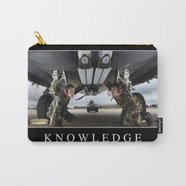 Knowledge: Inspirational Quote and Motivational Poster Carry-All Pouch