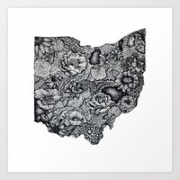 ohio Art Prints featuring Ohio by Simplyfrank