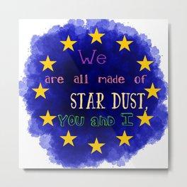 Europe - a star chart Metal Print