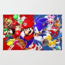 Mario vs Sonic Rug
