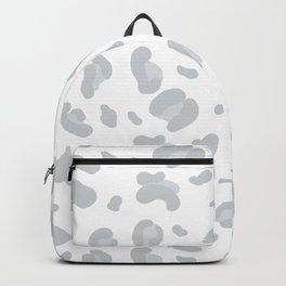 Black Grey Leopard Cheetah Panther Pattern Backpack