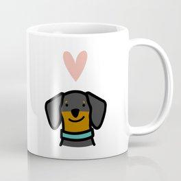Dachshund Love - Black & Tan Coffee Mug