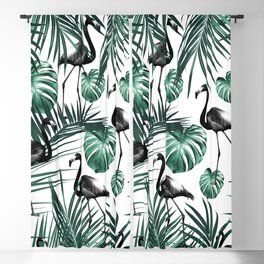 Tropical Flamingo Pattern #6 #tropical #decor #art #society6 Blackout Curtain