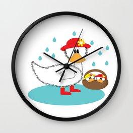 Duck & Ducklings Wall Clock