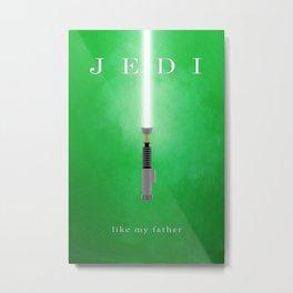 Jedi, Like My Father Metal Print