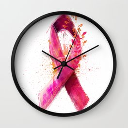 Breast Cancer Ribbon Wall Clock