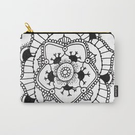 Black and White Manadala Pt 3 Carry-All Pouch