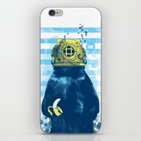 diver iPhone & iPod Skins featuring Wild Diver by Steven Toang