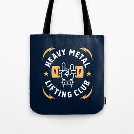 Heavy Metal Lifting Club (Yellow) Tote Bag