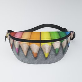 A Row of Colored Pencils. Fanny Pack