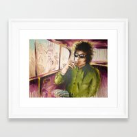 dylan Framed Art Prints featuring Dylan by chemilia