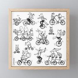 Bike Burg Framed Mini Art Print