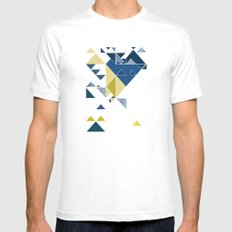 Sky  MEDIUM Mens Fitted Tee White