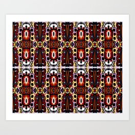 Bug Pattern Art Print