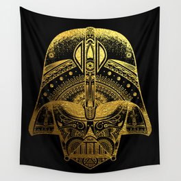 Mandala Darth Vader - Gold Foil Wall Tapestry