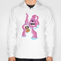 pirate ship Hoodies featuring Giant Squid vs Pirate ship by Squid ink