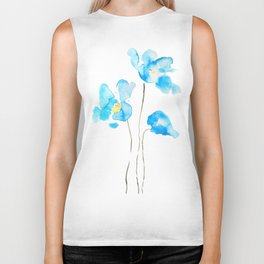 abstract Himalayan poppy flower watercolor Biker Tank