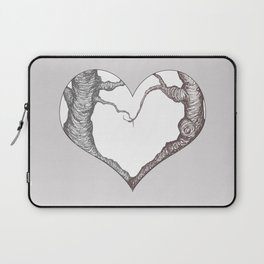 Two Trees in Love Sweetheart Valentine Illustration Laptop Sleeve