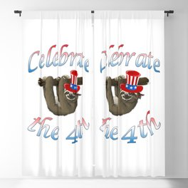 American Sloth Celebrate the 4th Blackout Curtain