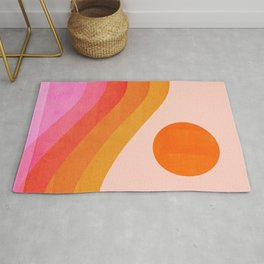 Abstraction_SUNSET_OCEAN_COLOR_POP_ART_Minimalism_009D Rug