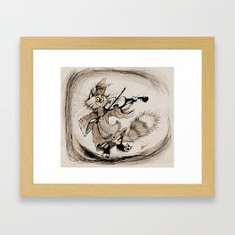 The Cat and the Fiddle Framed Art Print
